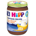 """HIPP Био бебешка каша """"Лека нощ"""" грис и банани 4м+ 190 гр."""